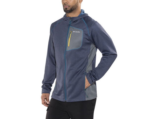 Columbia Jackson Creek II Hoodie Herren phoenix blue heather/graphite